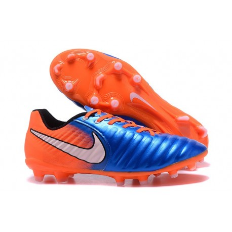 Soccer Shoes For Men Nike Tiempo Legend 7 FG - Blue Orange
