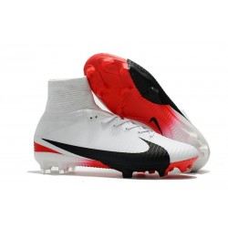 Football Boots For Men Nike Mercurial Superfly 5 FG White Red Black