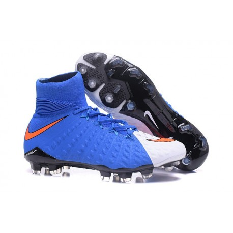 Nike Soccer Cleats 2017 New Nike Hypervenom Phantom 3 FG Red White Blue