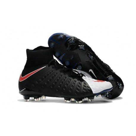 Nike Soccer Cleats 2017 New Nike Hypervenom Phantom 3 FG Black White Red