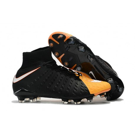 Nike Soccer Cleats 2017 New Nike Hypervenom Phantom 3 FG Black White Laser Orange Volt