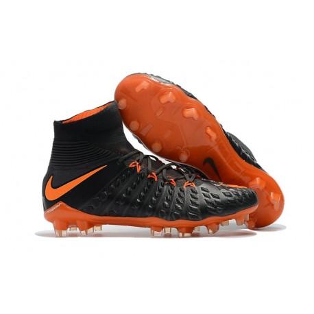 Nike Soccer Cleats 2017 New Nike Hypervenom Phantom 3 FG Black Orange