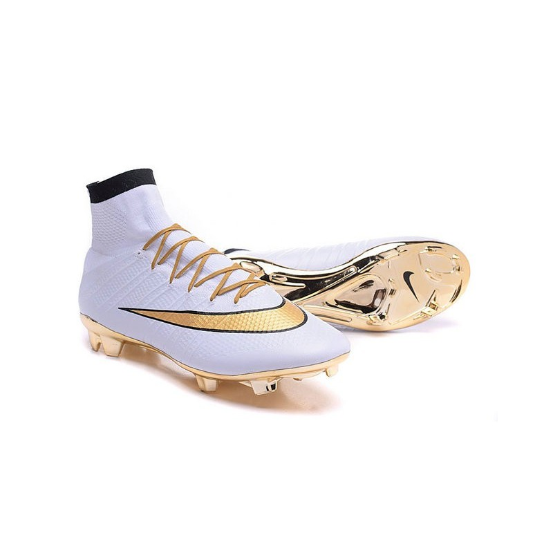 nike mens mercurial superfly 4 fg football cleats gold white .
