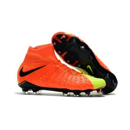 Nike Soccer Cleats 2017 New Nike Hypervenom Phantom 3 FG Orange Volt Black