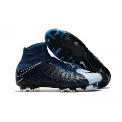 Nike Soccer Cleats 2017 New Nike Hypervenom Phantom 3 FG Black Blue