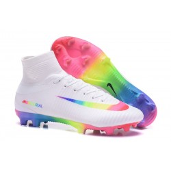 Football Boots For Men Nike Mercurial Superfly 5 FG White Pink Volt Green Blue Purple