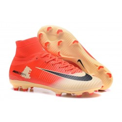Football Boots For Men Nike Mercurial Superfly 5 FG Red Gold Black