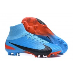 Football Boots For Men Nike Mercurial Superfly 5 FG Blue Red Black