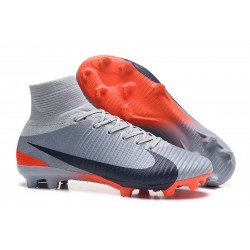 Football Boots For Men Nike Mercurial Superfly 5 FG Grey Black