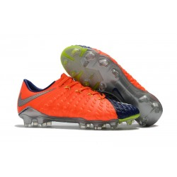 Latest Nike Hypervenom Phantom 3 FG Soccer Shoes Orange Blue Silver