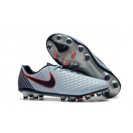 2017 Nike Magista Opus II FG Men's Soccer Cleats Grey Black Red