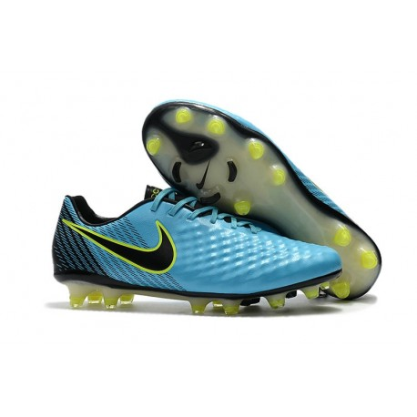 2017 Nike Magista Opus II FG Men's Soccer Cleats Blue Volt Black