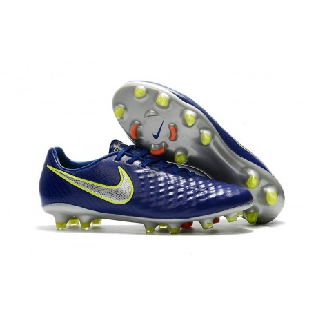 Nike Magista Opus II FG - New Football Shoes Blue Volt Silver