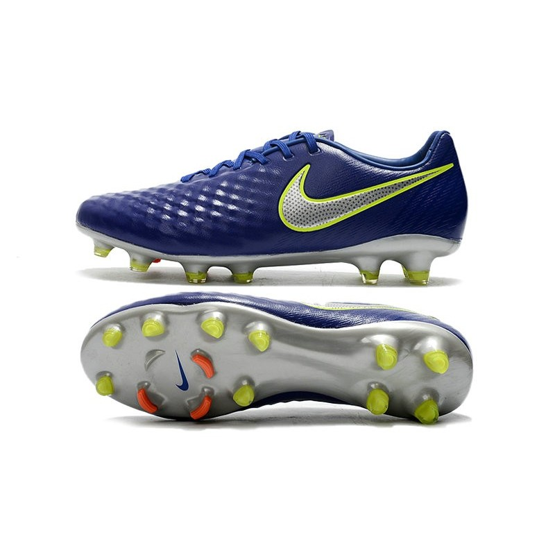 752a3e41c31a Nike Magista Opus II FG - New Football Shoes Blue Volt Silver