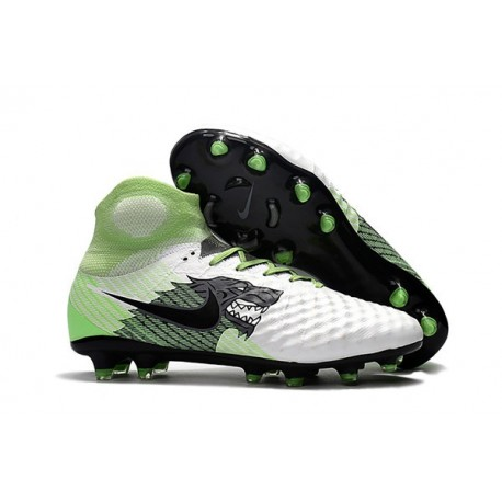 New Nike Shoes - Nike Magista Obra II FG Soccer Boots White Green Black