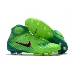Men Nike Magista Obra II Firm-Ground Soccer Cleats Green Black