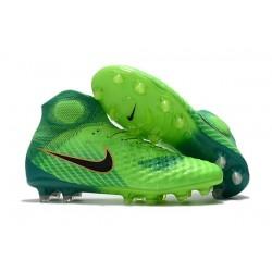 Men Nike Magista Obra II Firm-Ground Soccer Cleats Green Black