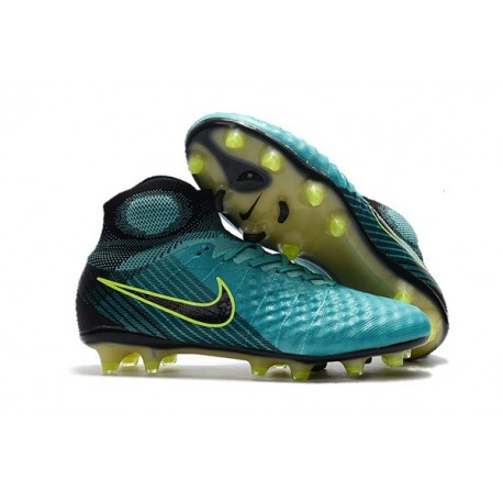 New Nike Magista Obra II FG Soccer Shoes For Sale Blue Volt Black