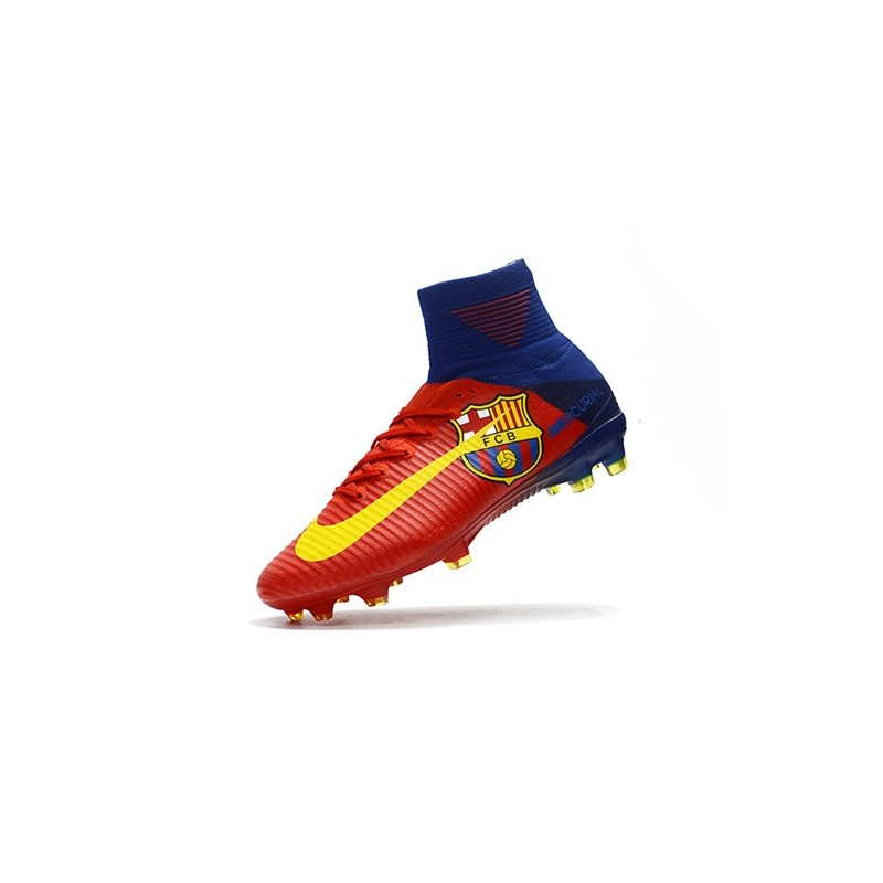 size 40 91f5b ac3ff Football Boots For Men Nike Mercurial Superfly 5 FG Barcelona FC Blue Red  Yellow