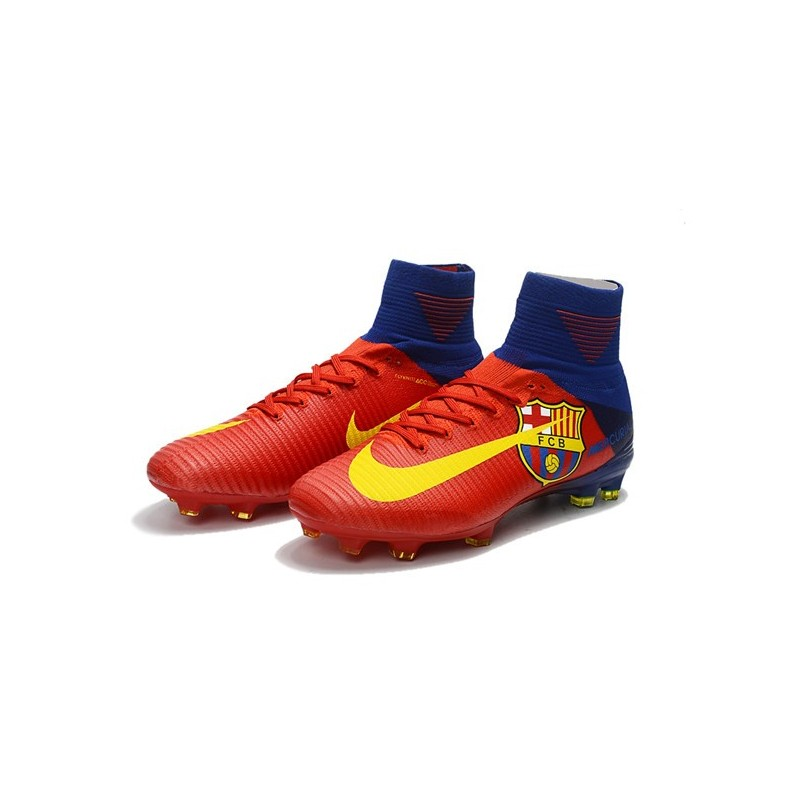 db119248274a9 france football boots for men nike mercurial superfly 5 fg barcelona fc  blue red yellow 6c70e