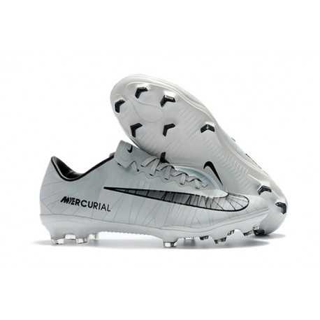 Men's Football Cleats Nike Mercurial Vapor XI FG CR7 Grey Black White
