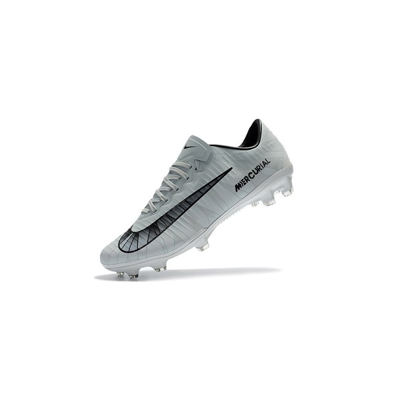 7674fb7a4190b ... wholesale mens football cleats nike mercurial vapor xi fg cr7 grey  black white c4644 8c447
