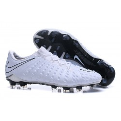 Latest Nike Hypervenom Phantom 3 FG Soccer Shoes White Black
