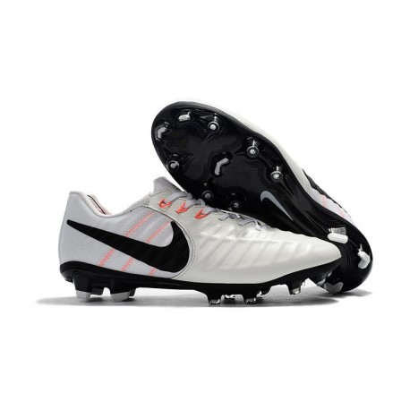 Soccer Shoes For Men Nike Tiempo Legend 7 FG - White Black