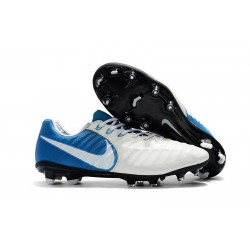 Soccer Shoes For Men Nike Tiempo Legend 7 FG - White Blue