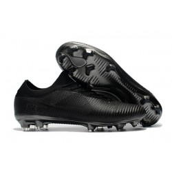 Nike Mercurial Vapor Flyknit Ultra FG Soccer Cleats for Men All Black