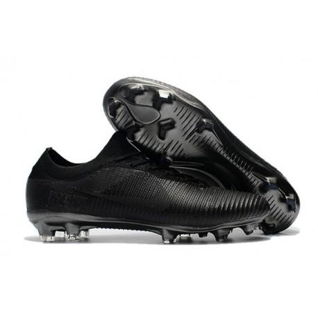 Nike Mercurial Vapor Flyknit Ultra FG Soccer Cleats for Men All Black