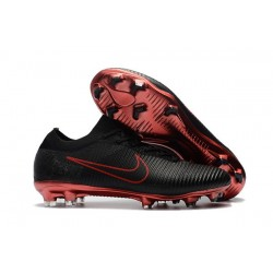 Nike Mercurial Vapor Flyknit Ultra FG - Nike New Cleats Black Red