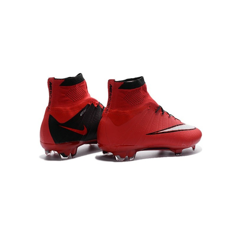 493333206 Best Nike Men s Mercurial Superfly IV FG Football Cleats Red Black White