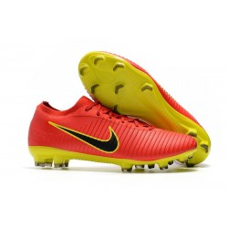 Nike Mercurial Vapor Flyknit Ultra FG - Nike New Cleats Red Yellow Black