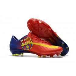 Nike Mercurial Vapor XI FG Soccer Cleats On Sale Barcelona Red Blue Yellow