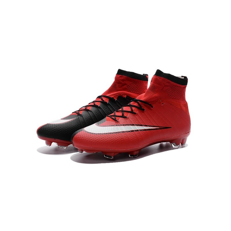 Best Nike Men\u0027s Mercurial Superfly IV FG Football Cleats Red Black White