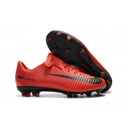 Men's Football Cleats Nike Mercurial Vapor XI FG Red Black