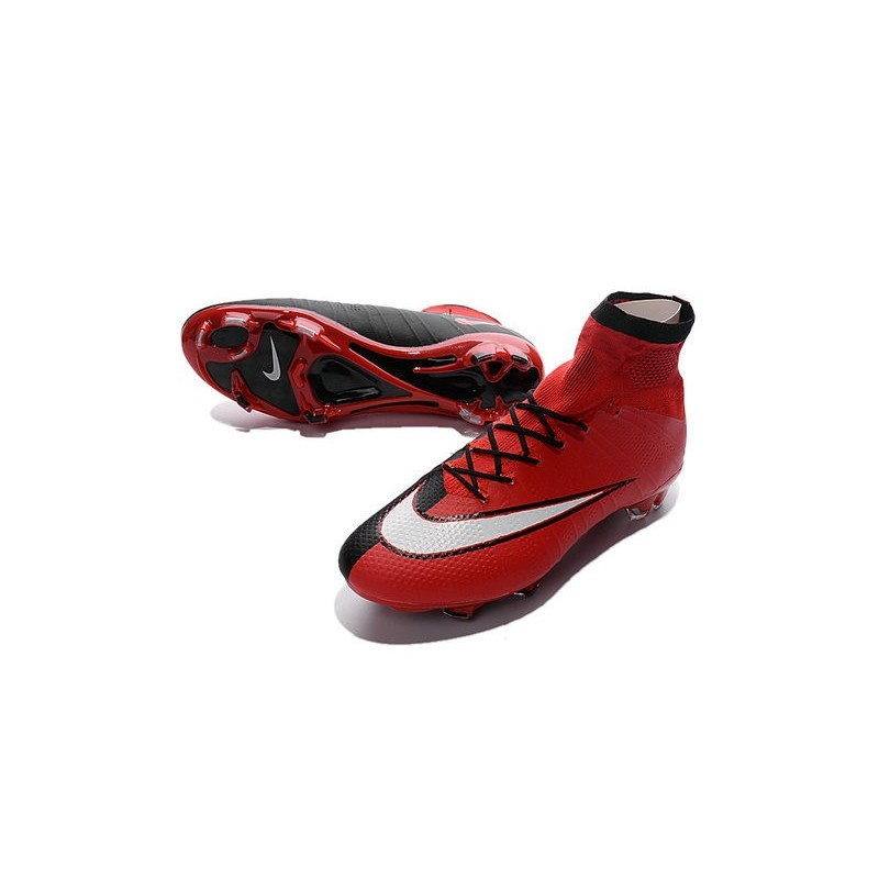 buy popular 6c262 9bdcc ... uk best nike mens mercurial superfly iv fg football cleats red black  white d5cae 28734
