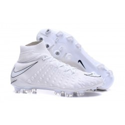 Nike Hypervenom Phantom III FG Football Cleats All White