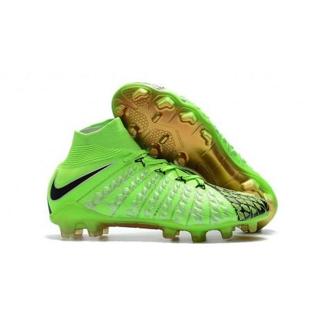 Nike Hypervenom Phantom III DF EA Sports Green Black Gold FG Football Cleats