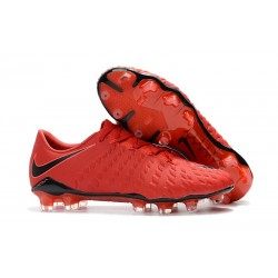 Nike Hypervenom Phantom III FG Football Cleats University Red White Bright Crimson Hyper Crimson