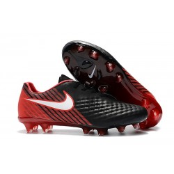 Nike Magista Opus II FG - New Football Shoes Black White Hyper Crimson Bright Crimson