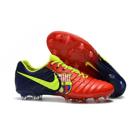 Soccer Shoes For Men Nike Tiempo Legend 7 FG - Red Blue Volt