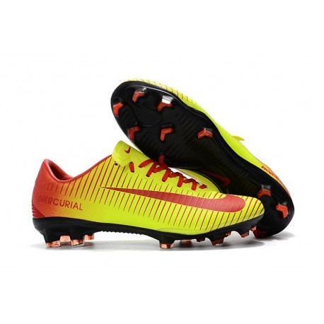 New Shoes - Nike Mercurial Vapor XI FG For Men Red Yellow