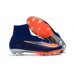 Football Boots For Men Nike Mercurial Superfly 5 FG Deep Royal Blue Chrome Total Crimson