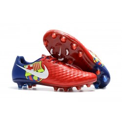 Sale - Nike Magista Opus II FG Men's Soccer Cleats Barcelona Red Blue