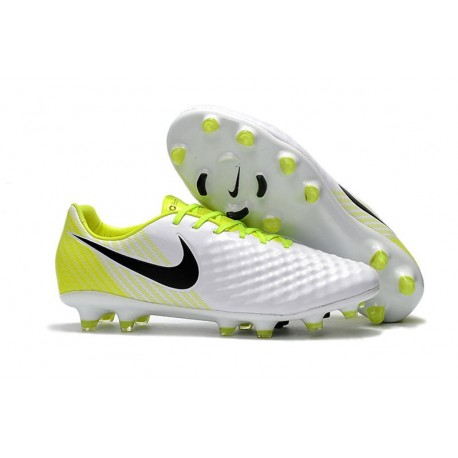 Nike Magista Opus II FG - New Football Shoes White Black Volt