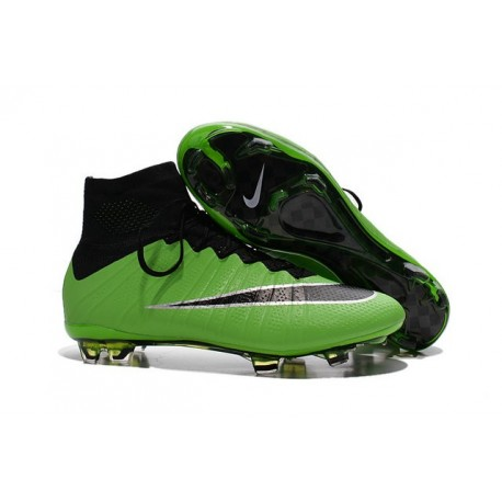 Nike Mercurial Superfly IV FG Soccer Boots - Shoes For Men Green Black