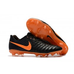 Football Cleats Nike Tiempo Legend VII FG - Black Laser Orange