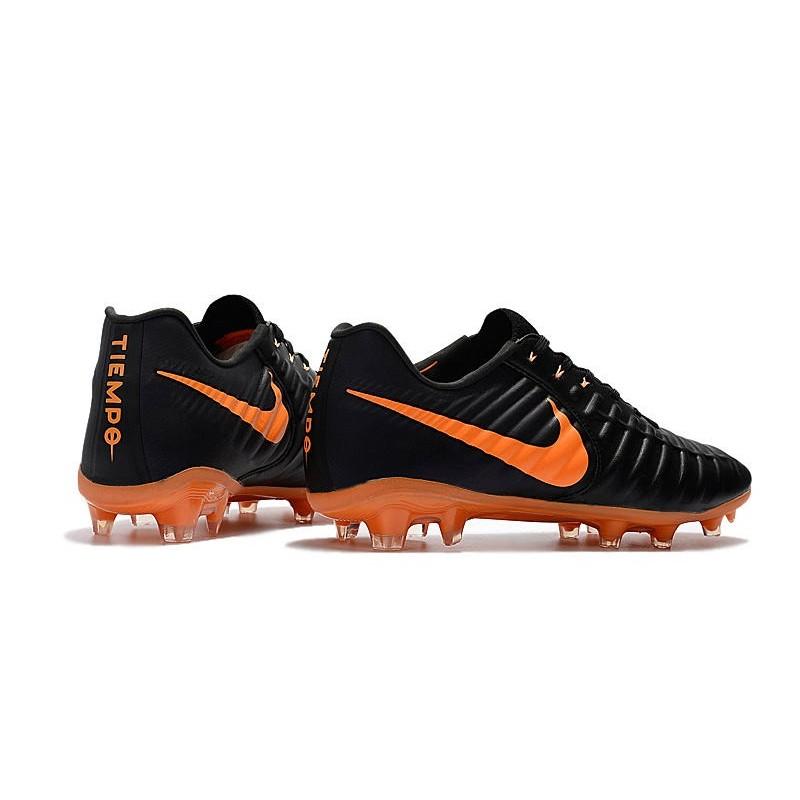 Football Cleats Nike Tiempo Legend VII FG - Black Laser Orange 23f413064e